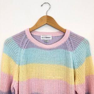VTG EZ Spirit Blogger 2018 Style Pastel Sweater M
